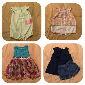 Other - 4 Girls 24 Month Summer Outfits